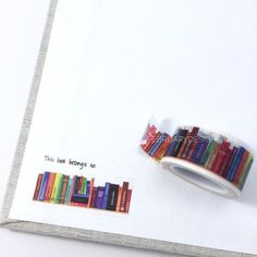 """Perfect to use as """"this book belongs to"""" labels on your favorite books. Use these tapes as a border to make unique scrapbook pages! This tape has the perfect amount of adhesive; letting the tape hold"""