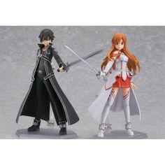 Figma Sword Art Online Sao Kirito Asuna 2set Action Figure Anime Japan New | eBay