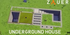 Modern Underground House by Zauer Thanks Ferrand for helping me with this project! And many Thanks t