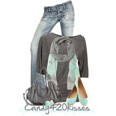 """""""Untitled #152"""" by candy420kisses on Polyvore.... With different colored jeans"""