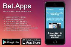 Beatapp - mobile app developer theme. Bootstrap Themes. $10.00