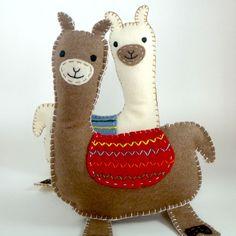 Stuffed Llama PATTERN - Sew by Hand Plush Felt Stuffed Animal PDF - Easy to Make. $4.00, via Etsy.