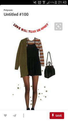 Slip dress, stripped shirt, green jacket