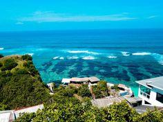 Very beautiful beach with big waves, Blue Point Beach Beach, Bali-Indonesia