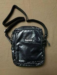 53e3e0cfb2 Supreme Shoulder Bag Pouch FW17 Black Gloss  fashion  clothing  shoes   accessories  unisexclothingshoesaccs  unisexaccessories (ebay link)