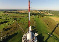 Bruchsal Golfplatz Fernmeldeturm Luftbild