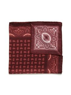 6954dd30c2b9 Daniel Dolce Mini Paisley Pocket Square