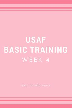 Week 4... The light near the end of the tunnel. Week 4 was the best worst week by far. This is when you tackle the gas chamber and get your name sewn on.
