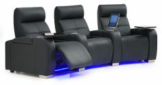 Indianapolis series with I-Pad holder, tray tables and arm storage and LED lights