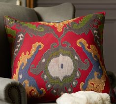 """Inna Ikat Pillow Cover 
