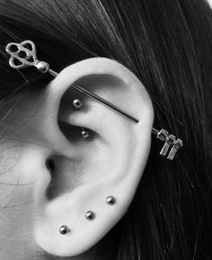 150+ Industrial Piercing Examples, Jewelry, Pain, Cost, Healing nice Check more at http://fabulousdesign.net/industrial-piercing/