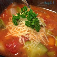 21 Day Fix Minestrone Soup | www.fixapprovedrecipes.com