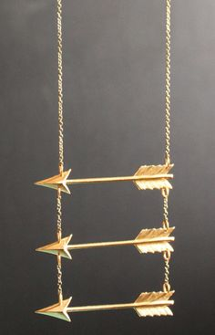 Triple Arrow Necklace