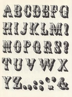 A collection of wood type alphabets