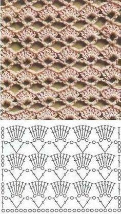 Blauw patroon bestaat uit lossen en stokjes Het beige patroon bestaat uit lossen en stokjes Bovenstaand patroon bestaat uit los