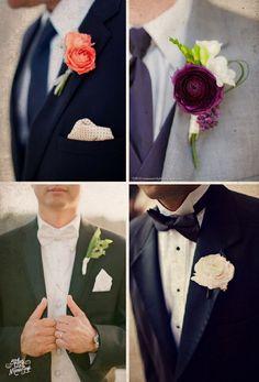 ¿Cómo elegir el boutonniere del novio? Tiene que basarse en el tipo de traje de novio #bodas #elblogdemaríajosé #boutonnierenovio #novios #weddings