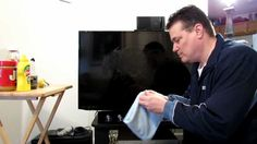 Flat Screen Clean™ Demonstration All in one take on a SMART TV