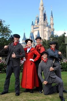 Mary Poppins at the Cinderella's Castle at the Magic Kingdom
