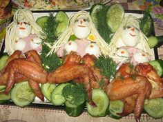 The Chicken Drummettes. Naked dancing ladies made out of chicken wings. Retro Recipes, Vintage Recipes, Cute Food, Good Food, Funny Food, It's Funny, Funny Fails, Food Fails, Cake Wrecks