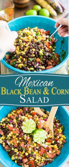 Bring on the maracas! This black bean and corn salad tastes just like a Mexican Fiesta is happening right inside your mouth!