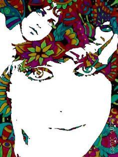 Hasta en el arte luce bien Grace Slick.