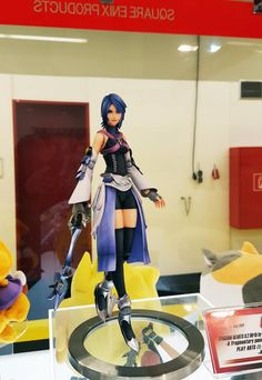 """ Square Enix have revealed Kingdom Hearts A Fragmentary Passage Aqua Play Arts Kai figure at the Nuremberg Toy Fair. Kingdom Hearts Figures, Kingdom Hearts Characters, Disney Kingdom Hearts, Nerd Merch, Kh 3, Anime Figurines, Geek Culture, Desserts Nutella, Action Figures"