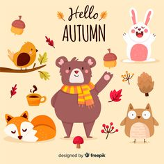 Fall Wallpaper, Iphone Wallpaper, All About Me Printable, Free Graphics, Hello Autumn, Forest Animals, Icon Pack, Doodle Art, Cute Drawings