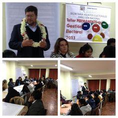 En la ciudad de El Alto evaluando el trabajo de la organización territorial en los distritos.