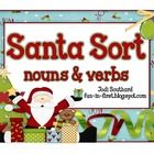 "***Freebie-This ""Christmas"" themed sort that can be used as a center to reinforce sorting nouns and verbs...."