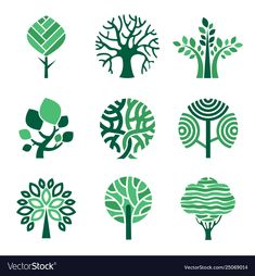Tree logo green eco symbols nature wood tree vector image on VectorStock 2 Logo, Symbol Logo, Nature Symbols, Fleur Design, Design Design, Wood Logo, Tree Logos, Leaf Logo, Woodworking Logo