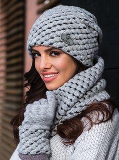 Купить Шапку Olivia2 серый Kamea_nal5