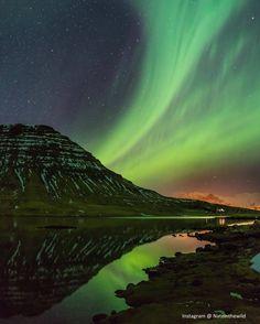 Midnight Aurora over Kirkjufell Grundarfjrur Iceland