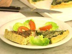 Tarta de chorizo alemán y cebollas. El gourmet