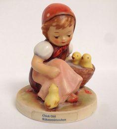 Goebel Hummel Chick Girl Figurine TMK 6 West Germany 57/0 Kukenmutterchen #Gobel