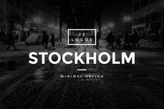 Monday Mania! Free Graphics!! Stockholm - 25 Modern Vintage Logos by WornOutMedia Co. on @creativemarket