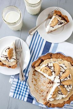 Chocolate Chip Cookie Dough Pie - Everyday Annie