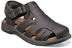 Nunn Bush Men's Ripley 84414 Closed Toe Sandal Brown Crazy Horse Size 11 M Brown Sandals, Leather Sandals, Boy Shoes, Strap Sandals, Men's Sandals, Comfortable Sandals, Leather Men, Footwear, Shopping
