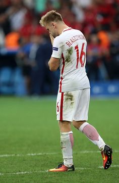 Jakub Blaszczykowski of Poland reacts after missing a shot in a penalty shootout during the Euro 2016 quarterfinal football match between Poland and. 2016 Pictures, National Football Teams, World Football, European Championships, Celebrity Wallpapers, Football Match, Super Sport, Soccer Players, Pitch