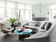 Julianna Margulies's Manhattan living room