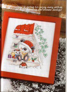 charming christmas design! santa bear cross stitch | make handmade, crochet, craft
