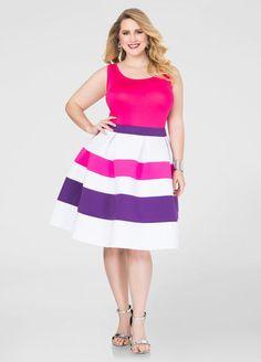 53e1c0b9683 Tri-Color Neoprene Skirt Tri-Color Neoprene Skirt Plus Size Sale
