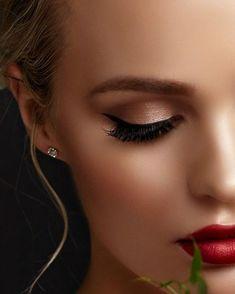 Makeup Sencillo Con Brillo Ideas For 2019 Mascara, Eyeliner, Eyeshadow, Makeup Looks For Red Dress, Insta Makeup, Eye Makeup, Makeup Storage, Makeup Goals, Beauty Bar