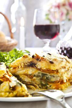 Lasagna vegetariana con pan italiano - IMujer