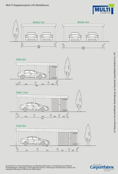 Technische Ansichten MULTI Flachdach Doppelcarport mit Schuppen The Effective Pictures We Offer You About small cars A quality picture can tell you ma Garage Double, Double Carport, Carport Garage, Pergola Carport, Metal Pergola, Deck With Pergola, Garage Doors, Pergola Kits, Modern Pergola