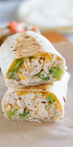 Chicken and Broccoli Grilled Burritos | Bake a Bite