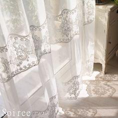 優雅で繊細な刺しゅうが美しいトルコ産レースカーテン