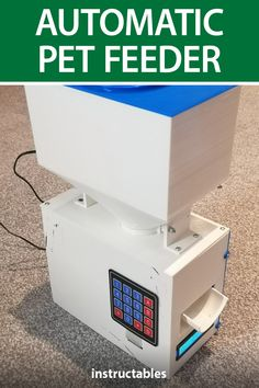 mijalnymaks created this automatic pet feeder with an Arduino and 3D printed parts. #Instructables #electronics #technology #3Dprint #Arduino