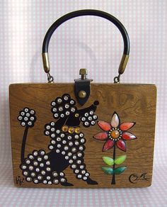 Enid Collins ~ Fifi Wood Box bag  ...Only box bag I would consider owning.