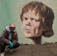 Quand Game Of Throne fait son apparition dans le street art grâce à Akse