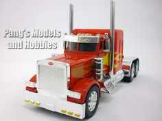 The Custom Cab series by NewRay are models at 1/32 scale. They measure about 11 inches long by about 3 inches wide by about 5 inches high (to the top of the cab) depending on the particular model. The